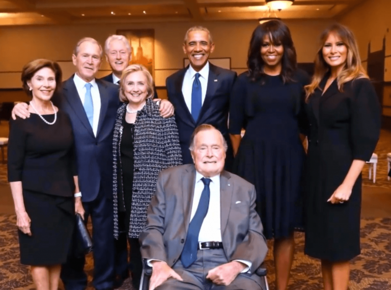 Massive satanist offensive runs out of steam and counterattack begins as RV nears Fake-barbara-bush-funeral-photo3-768x569